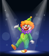 stock-illustration-25633245-clown-at-the-center-of-stage-with-a-spotlight